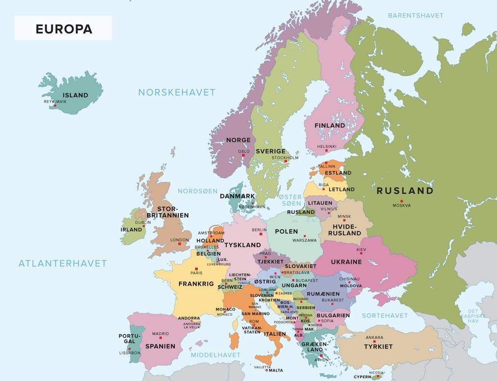 Find Europas Lande Og Hovedstaeder