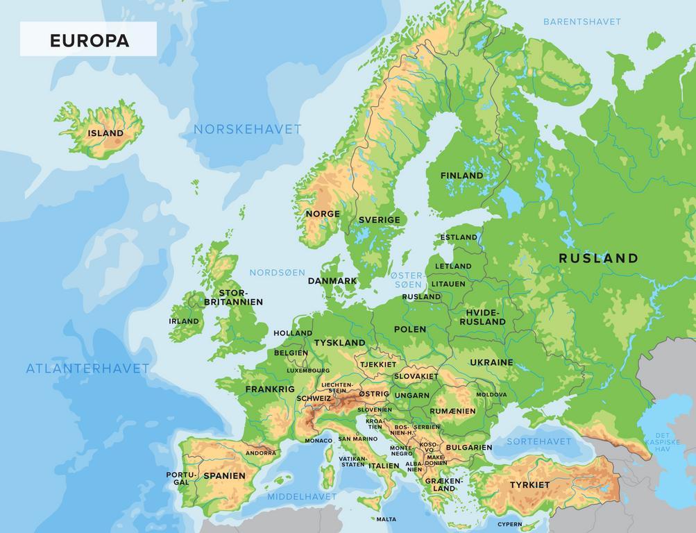 Find Europas Soer Og Floder